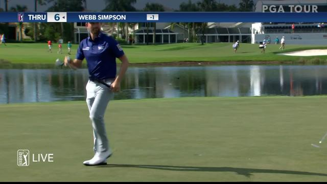 Webb Simpson's 183-yard approach yields birdie putt at Honda