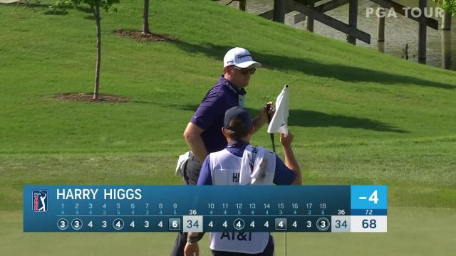 PGA TOUR | Harry Higgs sinks 15-footer for eagle at AT&T Byron Nelson
