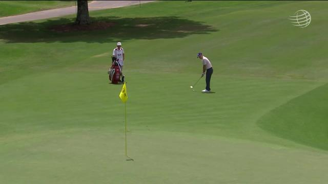Kevin Streelman sinks a 35-foot birdie on No. 9 in Round 2 at WGC-FedEx St Jude