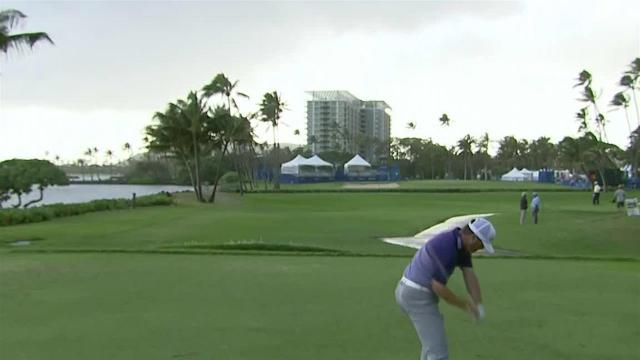 Ryan Palmer sticks tee shot to set up birdie at the Sony Open