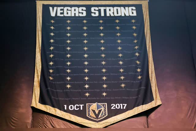 Las Vegas Review Journal News | Golden Knights Update Vegas Strong Banner
