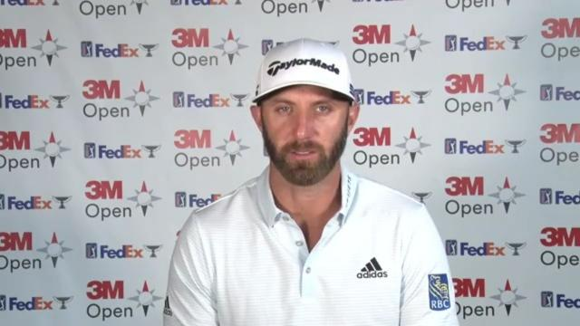 Dustin Johnson on tackling an unfamiliar course prior to 3M Open