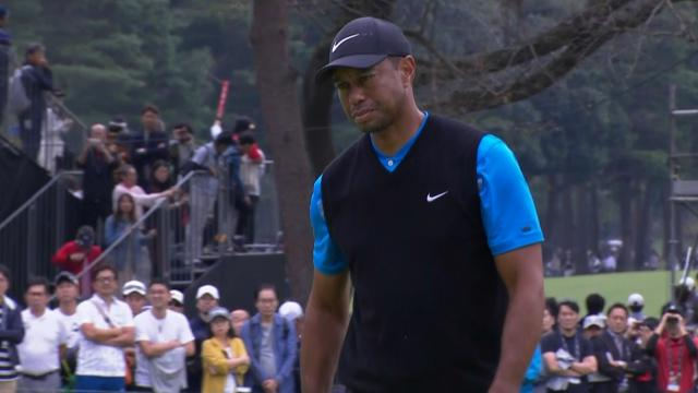 Tiger Woods keeps solo lead at ZOZO