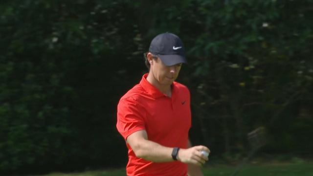 Rory McIlroy's birdie putt on No. 6 at WGC-HSBC Champions
