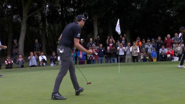 Keegan Bradley's smart birdie putt at ZOZO