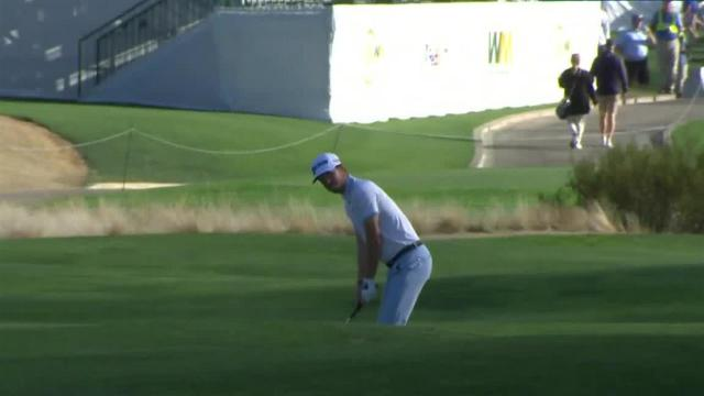 Sam Ryder throws dart to set up birdie at Waste Management
