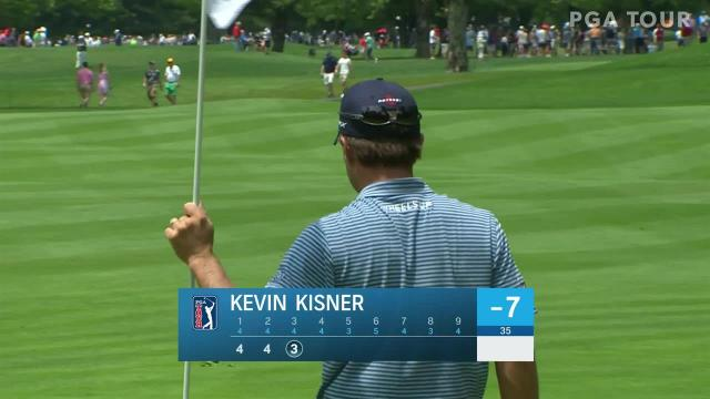 Kevin Kisner nearly holes out for eagle at Travelers