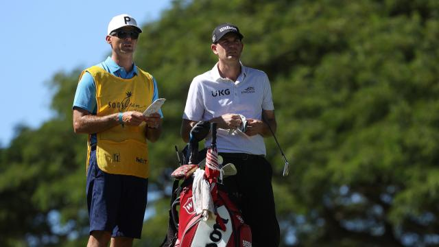 Brendan Steele leads to by two at the Sony Open