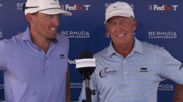 Fred and Taylor Funk's interview after Round 2 of Bermuda