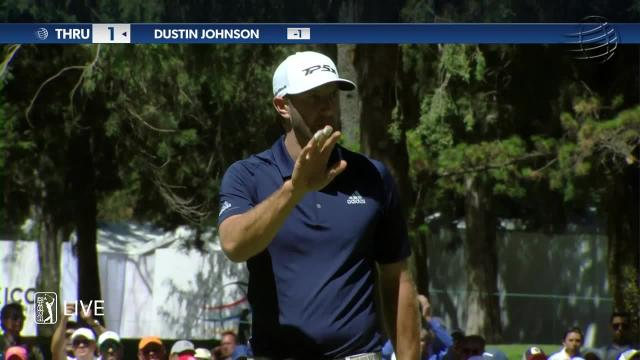 Dustin Johnson sinks 25-footer for birdie at WGC-Mexico