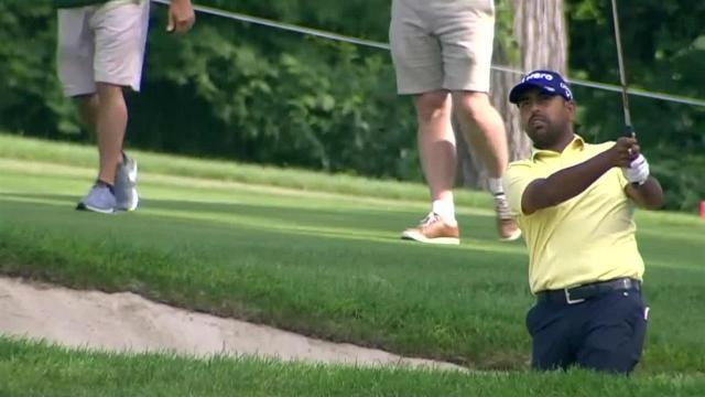 Anirban Lahiri uses nice approach to set up birdie at John Deere