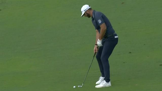 Dustin Johnson dials in approach to set up birdie at Sentry