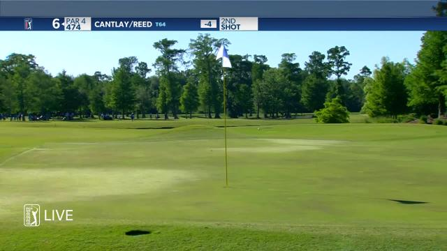 Patrick Cantlay dials in approach to yield birdie at Zurich Classic