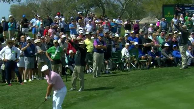 Bryson DeChambeau gets up-and-down for birdie at Arnold Palmer