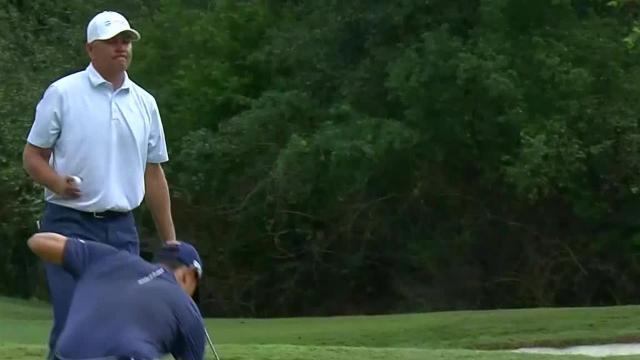 Bo Van Pelt cards birdie on No. 10 at Houston Open