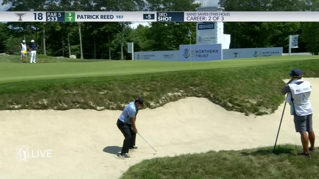 Patrick Reed makes birdie on No. 18 in Round 3 at THE NORTHERN TRUST