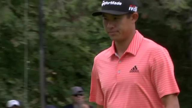Collin Morikawa's lengthy birdie putt on No. 9 at Safeway Open