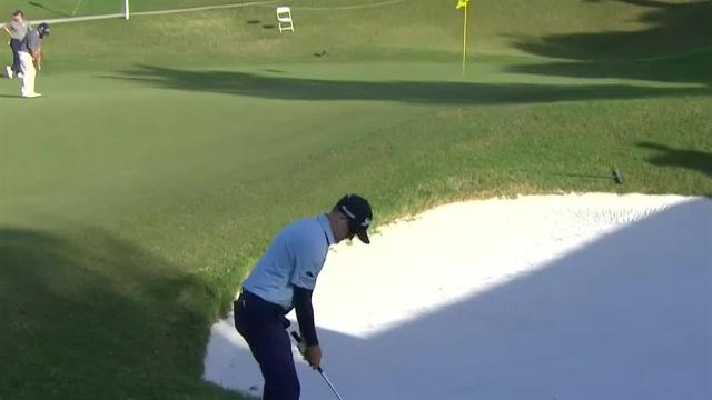 Russell Knox gets up-and-down for birdie at Bermuda