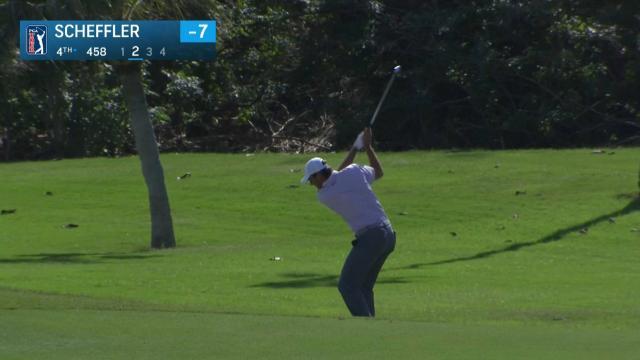 Scottie Scheffler sticks approach to set up birdie at WGC-HSBC Champions