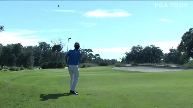 Robert Streb approach sets up birdie at The RSM Classic