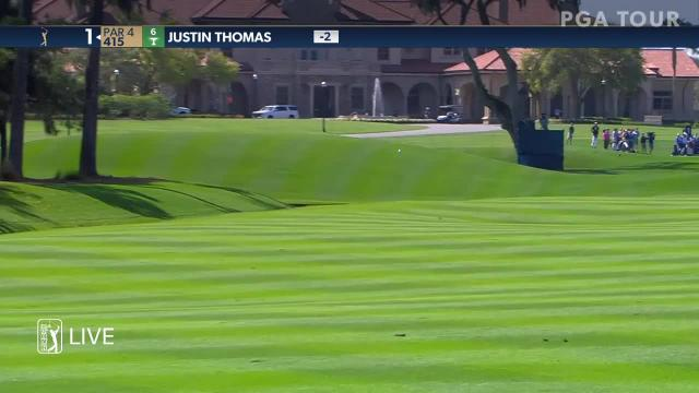 Justin Thomas nearly holes out for eagle at THE PLAYERS