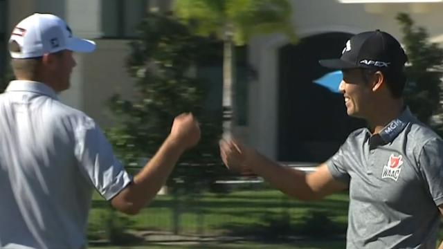 Kevin Na and Sean O'Hair's Round 1 highlights from QBE Shootout