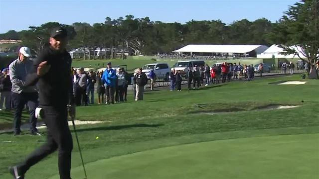 Jason Day holes birdie from off the green at AT&T Pebble Beach