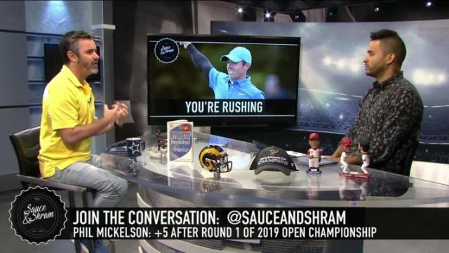 Discussing Phil Mickelson's Struggles at the First Round of the Open Championship