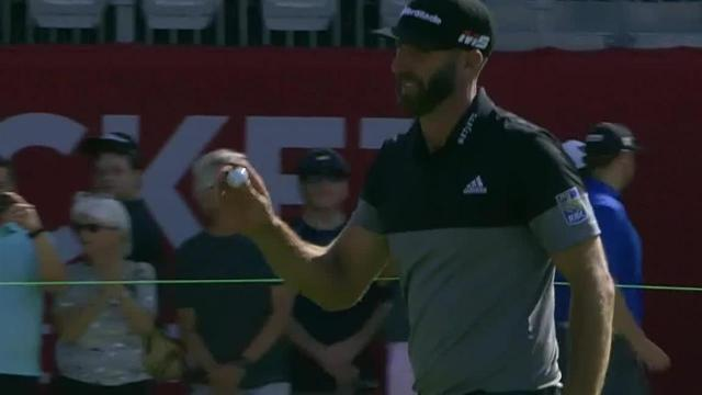 Dustin Johnson gets up-and-down for birdie at Rocket Mortgage