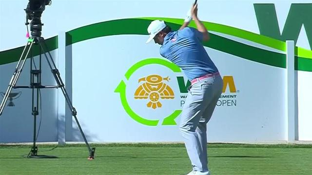 J.T. Poston nearly aces No. 16 at Waste Management