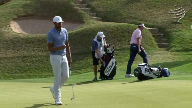 Tony Finau sinks lengthy birdie putt at WGC-Dell Match Play