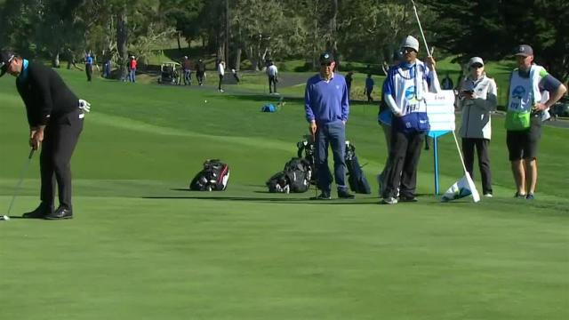 Scott Piercy sinks 35-footer for birdie at AT&T Pebble Beach