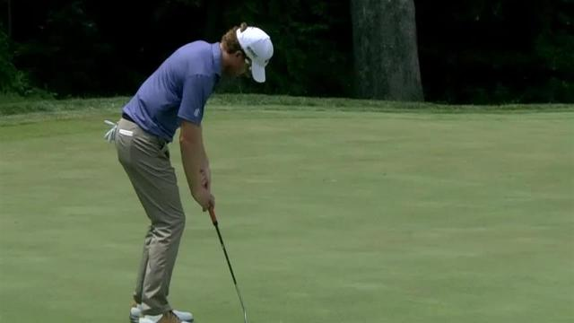 Roberto Castro sinks 28-footer for birdie at John Deere