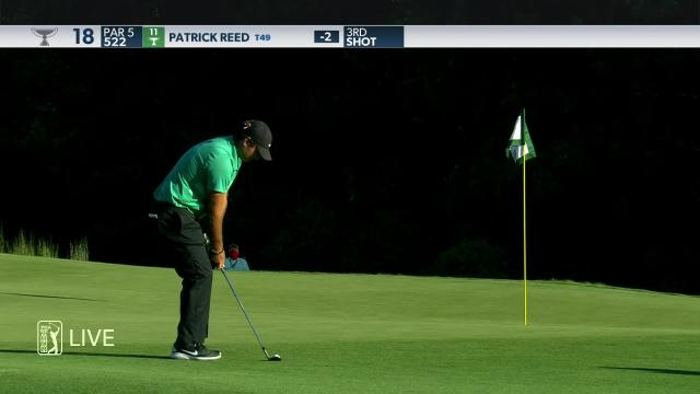 Patrick Reed makes birdie on No. 18 in Round 1 at THE NORTHERN TRUST