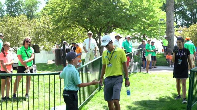 Isaac's special day as a volunteer at the John Deere Classic