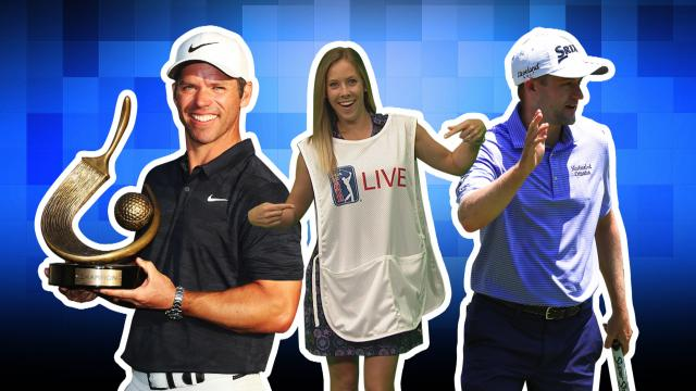 Phil's calf exercises, Casey's CHAMP caddie bib & Kokrak's ace
