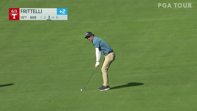 Dylan Frittelli makes birdie on No. 15 in Round 1 at BMW Championship