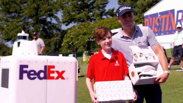 Justin Thomas' special delivery at WGC-FedEx St. Jude Invitational