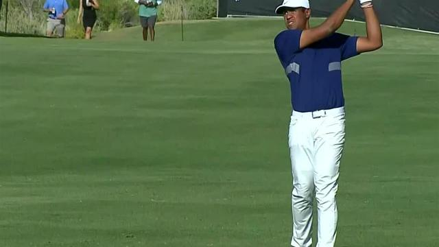 Tony Finau's impressive second leads to birdie at Shriners