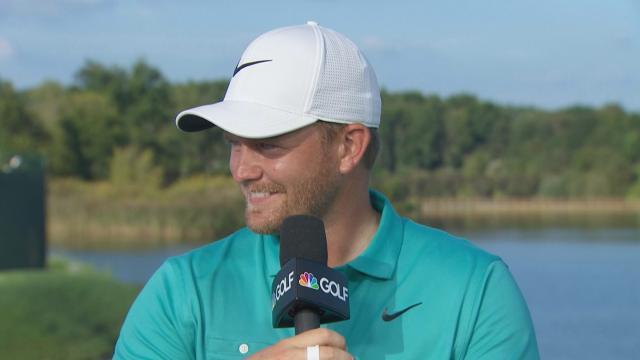 Tom Lewis interview after winning Korn Ferry Tour Championship