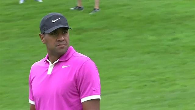 Tony Finau uses nice approach to set up birdie at Travelers