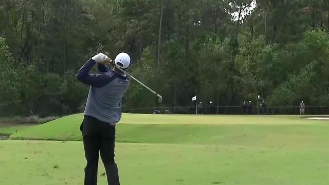 Scottie Scheffler dials in approach to set up birdie at Houston Open