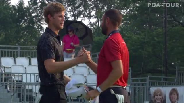 Cam Davis makes par to win on fifth playoff hole at Rocket Mortgage