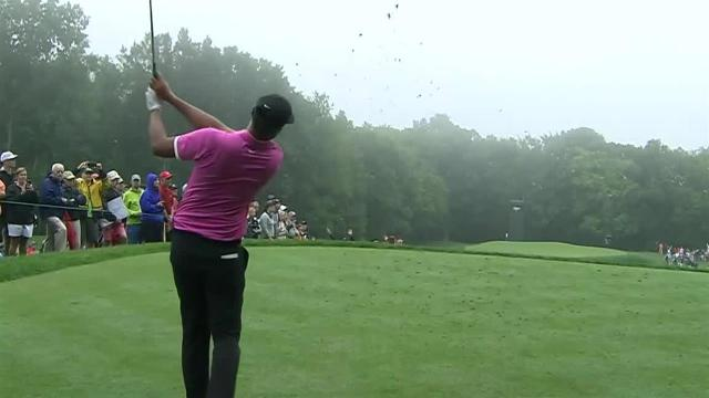 Tony Finau nearly aces No. 11 at Travelers