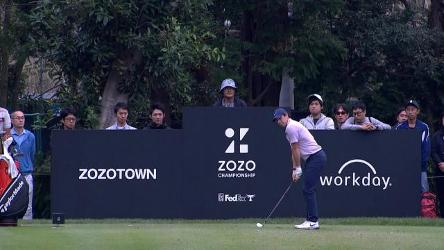 Rory McIlroy's dialed-in tee shot at ZOZO