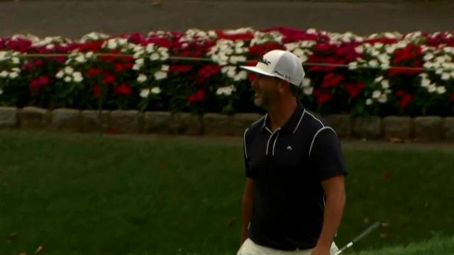 Scott Piercy's 20-foot eagle putt on No. 12 at The Greenbrier