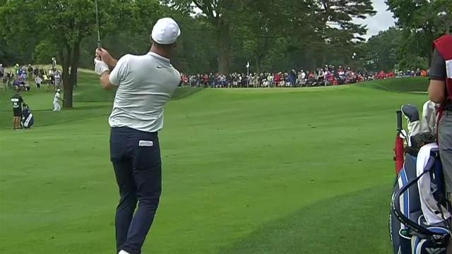 Paul Casey's approach to 8 feet leads to birdie at Travelers