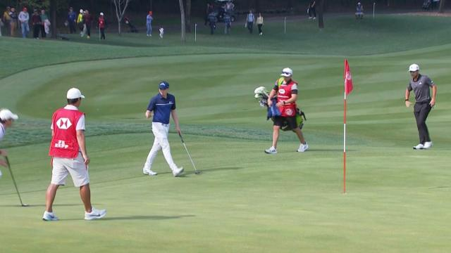 Matthew Fitzpatrick's birdie putt from the fringe at WGC-HSBC Champions