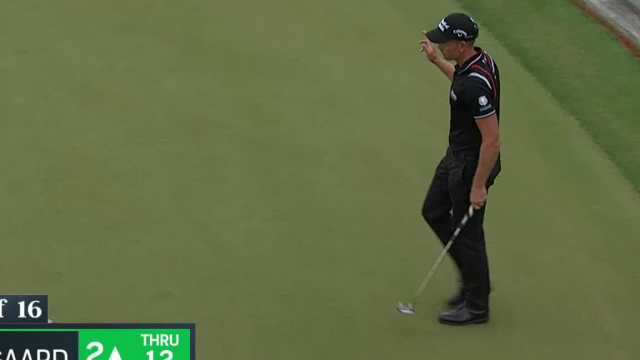 Henrik Stenson birdies from off the green at WGC-Dell Match Play