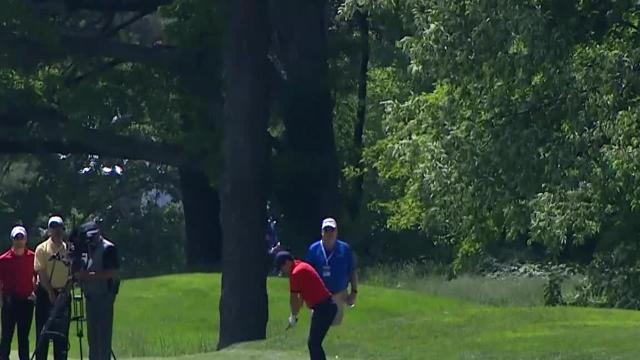 Rory McIlroy reaches in two to set up birdie at RBC Canadian